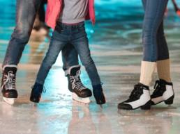 Ice skating on holiday at Thorganby Hall